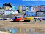 Tenby's colourful harbour