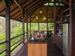 Rain forest surrounds Casa de Cabo