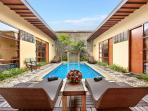 Outdoor Swimming Pool and Sunbed