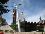 Tivoli World amusement park and cable car, 25 minute walk or by taxi or bus