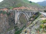 Famous Bixby Bridge, an iconic landmark, 20 minutes south (from Carmel) on Highway 1