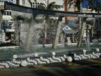 Waterfall Fountain in Centre of Torrevieja