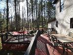 Rear Deck with Hammock, Beautiful Patio and BBQ Grill