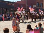Kids getting roped in at July 2nd parade!