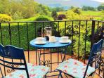 Enjoy coffee on the terrace