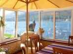 Large conservatory with beautiful views overlooking the loch