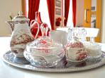 Breakfast sets supplied with basics such as free coffee, sugar & tea.