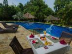 Breakfast pool-side? Go on, enjoy!