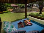 Chill in the Bale (gazebo) at the villa