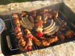 barbeque in the garden