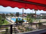 Vistas desde la terraza. Playa de Calarreona