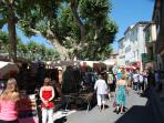Market Day Quillan, lots of interesting stalls. There is also a food market held every week.