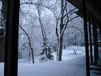 Snow view at Rochester Vacation house near 90