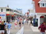 The famous OCMD boardwalk - 5 min drive from condo - park in municipal lot!