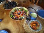 fresh organic food on site