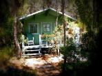your own hideaway log cabin (with shower room) in the garden