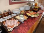 continental buffet followed by full English breakfast