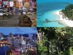 Activities at less than 30 minutes by car : Port Louis market & Port, Trou aux Biches, Pamplemousses