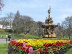 Princes Street Gardens are in the middle of the city