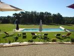 La Roussie Gites, heated pool