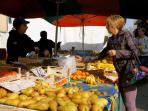 Local Market, in autumn sunshine