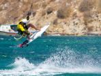 Kite Surfing in Korfos Bay (5 min walking distance from the house)