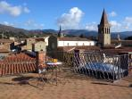 The breathtaking view of Sansepolcro from the roof terrace