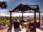 Get out of the sun and enjoy the sea breeze un the gazebo
