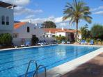 Very large pool with life guard, plenty of sun loungers, showers, toilet facilities, childrens pool.