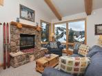 Living room with superb slope views of Winter Park Resort