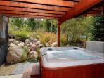 Take a dip in your private hot tub