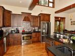 High end kitchen, fully equipped for your cooking needs.