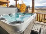 Take a relaxing dip in the hot tub