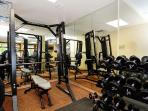 Zephyr Mountain Lodge shared fitness area