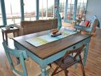 The dining area table