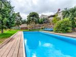 Big pool, garden view
