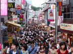 Famous Takeshita street, 4 minutes walk from the apartment!