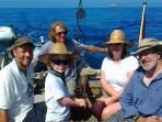 family sailing on the Golden Otter