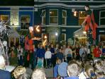 A scene from the street parade during Clifden Arts week - September annually