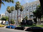 The best hotel in Cannes and much favoured by mega stars and the mega rich is The Carlton.