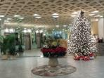 Lobby with Christmas decorations