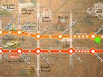 Subway map to major attractions