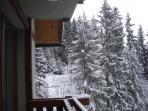 výhlad z balkóna