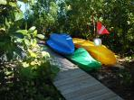 Kayaks included in this rental