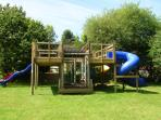 Play area for younger guests at Brongwyn Cottages