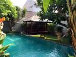 A Balinese Swimming Pool with Balinese Garden