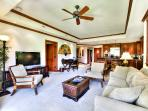 Beautiful Lanai and Living Room Space.  Pocket Doors open up all the way!
