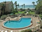 Gulf Side, Beachfront, Private, Heated Pool!
