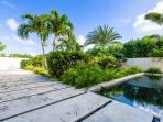 Walkways and reflecting pools create a perfect pairing of modern luxury and natural beauty.