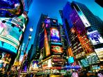 The most visited site in the world, only 16-25 minutes away from the apartment by subway.  TIMES SQ